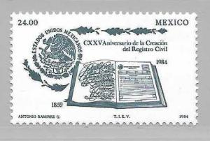Mexico 1375 125th State Registry single MNH