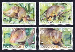 Solomon Islands MNH 927-30 Grey Cuscus WWF Fauna 2002