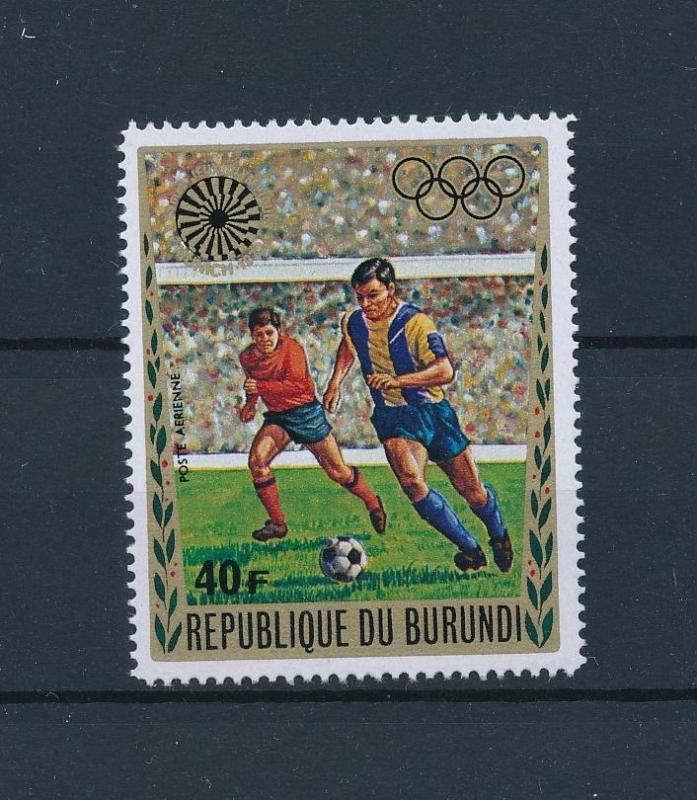 [46371] Burundi 1972 Olympic games Munich Soccer from set MNH