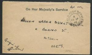 ADEN BRITISH FORCES 1958 small OHMS cover FPO 293 cds......................58796