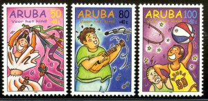 ARUBA 1998 CHILD WELFARE Semi Postal Set Sc B53-B55 MNH