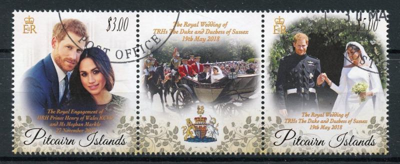 Royal Wedding Cancelled.Pitcairn Isl 2018 Cto Prince Harry Meghan Royal Wedding 2v Set