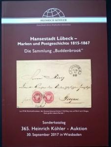 Auction catalogue Hansestadt Lübeck Marken & Postgeschichte 1815-67 Germany