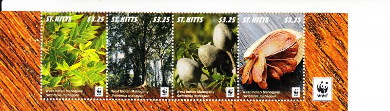 2016 St Kitts WWF West Indian Mahogany Fruit S4 (Scott 934) MNH