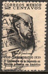 MEXICO 748, 2c 400th Anniv 1st Ptg Press in America Used. F-VF.(399)