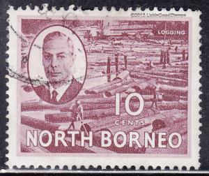 North Borneo 250 USED 1950 Logging