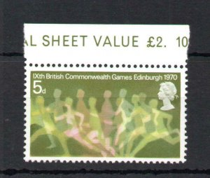 5d COMMONWEALTH GAMES UNMOUNTED MINT WITH PHOSPHOR OMITTED Cat £200