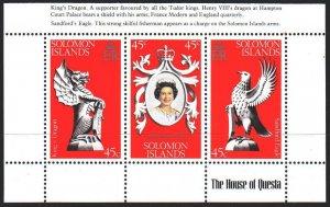 Solomon Islands. 1978. Small sheet 354-56. 25th anniversary of the coronation...