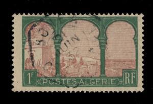 ALGÉRIE - 1932 - CAD RECETTE AUXILIAIRE BÔNE-A HEXAGONE SUR N°51