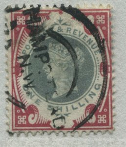 GB QV 1900 1/ carmine rose and green nicely used