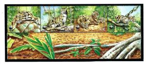 Malaysia 541a MNH 1995 Leopards S/S