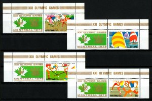 AITUTAKI - 1976 - OLYMPICS - CYCLING - SAILING ++ MONTREAL - MNH SET + LABELS!