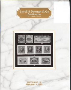Newman: Sale # 19  -  Lowell S. Newman & Co. Auctioneers,...
