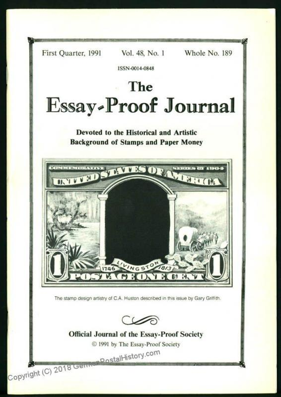Essay-Proof Journal No189 CA Huston Designs PDR Die Proofs 44687