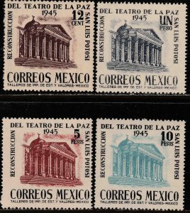 MEXICO 801-804, Reconstruction La Paz Theater S L Potosi MINT, NH. VF.