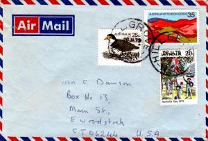 Australia 35s Wittenoom Gorge, 25c Spur-wing Plover, and 20c 1979 Australia D...