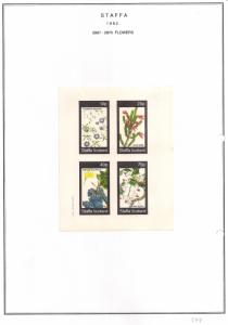 SCOTLAND - STAFFA - 1982 - Flowers #38 - Imperf 4v Sheet - MLH