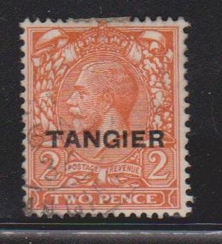 TANGIER - Scott # 504 Used  - King George V Overprinted Issue
