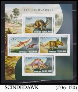 TOGO - 2014 DINOSAURS PRE-HISTORIC ANIMALS - MIN/SHT MNH