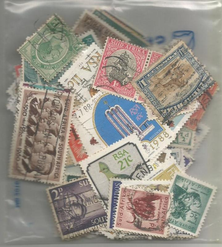 South Africa Mix x 100 used & Mint. All different. No. SA3
