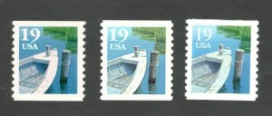 2529-2529A-2529C Fishing Boats Set Of 3 Mint/nh FREE SHIPPING