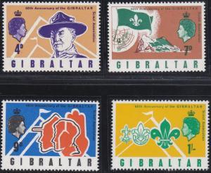 Gibraltar 209-212 MNH (1968)