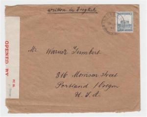 PALESTINE -USA 1941 CENSOR COVER, PARDESSHANA CDS,  15m RATE(SEE BELOW)