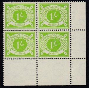 Ireland Sc J14 (SG D14), MNH block of four