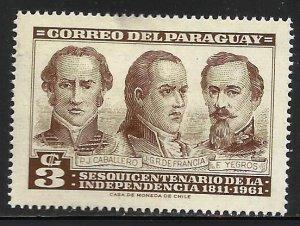 Paraguay 1961 Scott# 586 MH