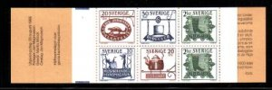 Sweden Sc 1550a 1985 Trade Signs stamp booklet mint NH