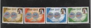 BAHRAIN #481-484  1996 ALUMINUM PRODUCTION   MINT VF NH  O.G