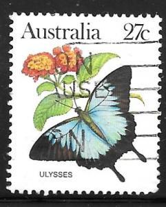 Australia 875: 27c Mountain Swallowtail (Papilio ulysses), used, VF