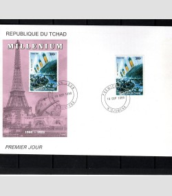 Chad 1999 The Titanic Millennium 1900/1925 set + s/s Perforated FDC