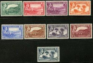 MONTSERRAT Sc#92-100 SG101a-109a 1941-43 KGVI Pictorials Part Set OG Mint LH