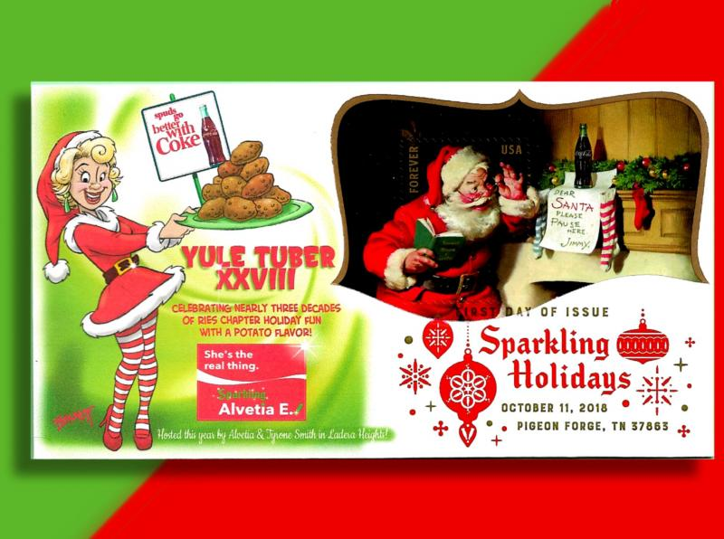 Spuds Go Better With Coke!  Yule Tuber '18 Cover celebrates Potatoes and Cola!