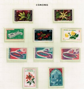 COMORO ISLANDS STAMP MINT STAMPS COLLECTION LOT