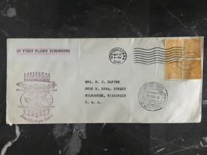 1936 New York USA Hindenburg Zeppelin FFC cover to Frankfurt Germany LZ 129