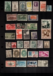 Mexico  35  diff used and mint lot collection