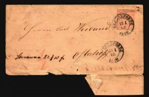 Germany 1868 N. Confed Cover 1/2g / Edge Tears - Z17140