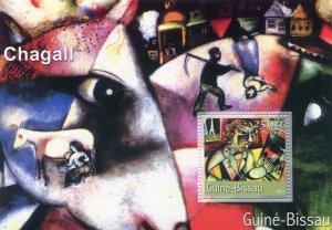 Guinea Bissau 2001 MARC CHAGALL Paintings s/s Perforated Mint (NH)
