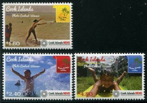 HERRICKSTAMP NEW ISSUES COOK ISLANDS Sc.# 1580-82 Photography Contest