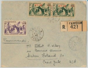 45099 - AOF MAURITANIA / NIGER -  POSTAL HISTORY: REGISTERED COVER from Tahoua