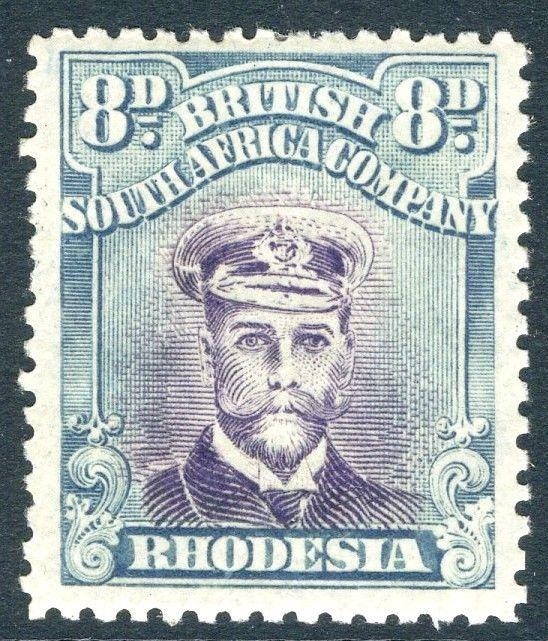 RHODESIA-1919 8d Mauve & Greenish-Blue Sg 268 LIGHTLY MOUNTED MINT V18590