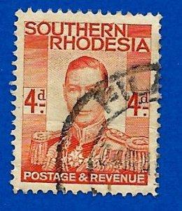 Southern Rhodesia 1937 - U - Scott #45 *