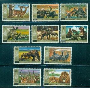 Rwanda  #444-53  (1972 Akagera National Park Animals set) VFMNH CV $12.05