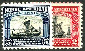 U.S. #620-621 MINT OG LH