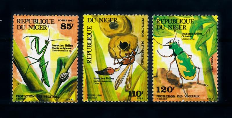 [70580] Niger 1987 Insects Grasshopper Wasp  MNH