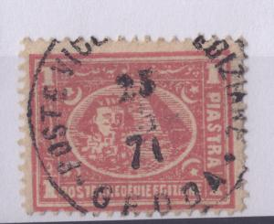 Postmark indicates Egyptian stamp showing Sphinx and Pyramids was used in Jiddah