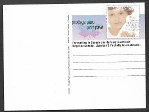 CANADA 1999 (55c) MILLENNIUM Postal Card Sc UX125 Unused
