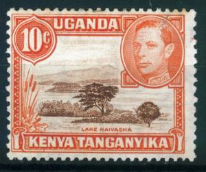 Kenya Uganda Tanganyika KUT 10c Lake Naivasha issue of 1938, Scott 69, MH